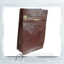 Brown Aluminum Coffee Zipper Packaging Bag