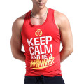 Y back mens cotton fitness gym stringer singlet