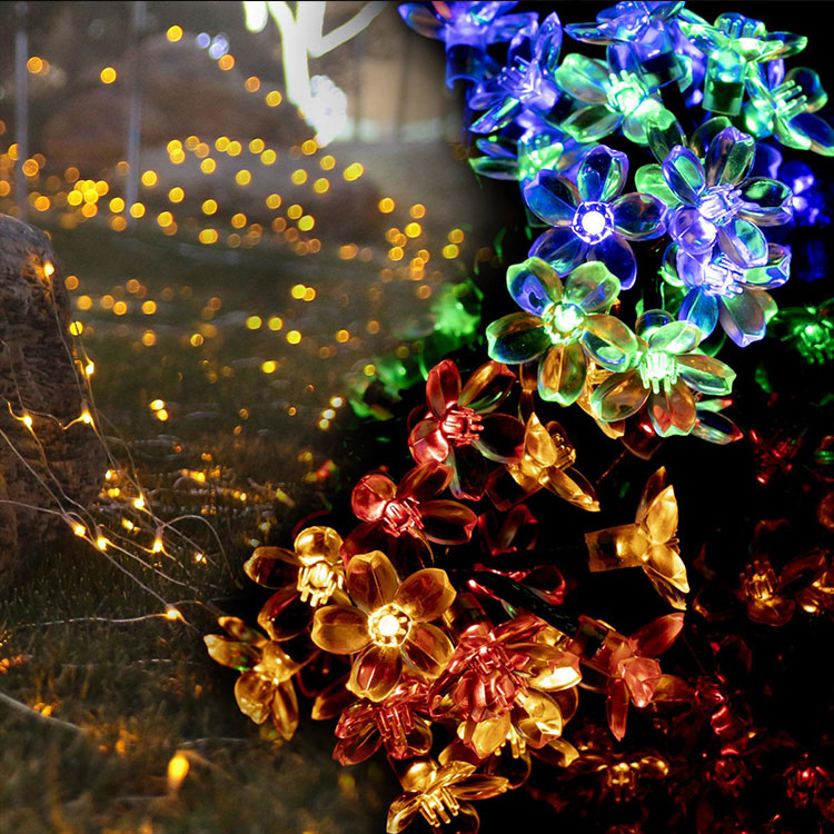 cherry flower waterproof christmas festival light led outdoor