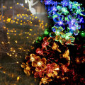 LED Multi Color Peach Flowers String Lights