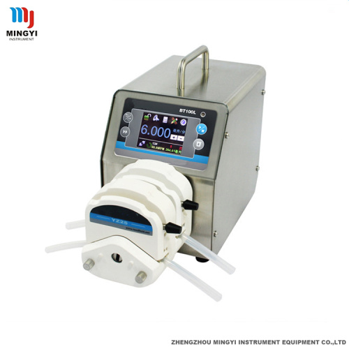 Small stepper motor peristaltic pump with hose