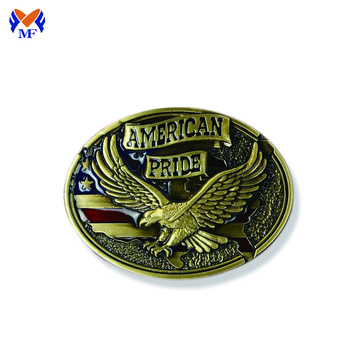 Custom Antique Bronze belt buckle with logo
