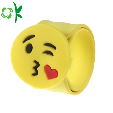 Fashion Silicone Emoji Simling Face Slap Watchbands Bracelet