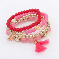 Colorful Beads Elastic Multi Layer Chain Women Bracelets