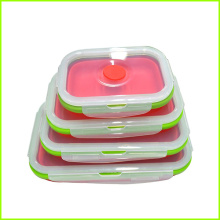 OEM Factory for Rectangular Collapsible Bento Lunch Box Set,Silicone Folding Lunch Box Non-toxic Collapsible Silicone Lunch Box Set supply to El Salvador Exporter