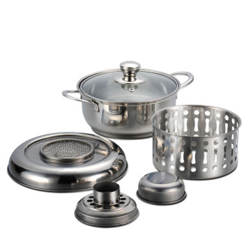 Kitchen Use Polished Stainless Steel Big Cooking Pot