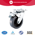 Braked Plate Swivel Conductive TPR Caster