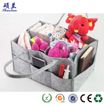 Hot sellling felt diaper caddy organizer storage