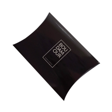 Glossy Black Pillow box Elegant Design