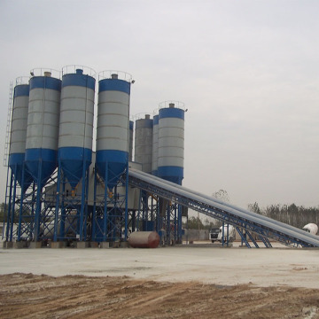 Stationary type 180m3h concrete batching plant for sale