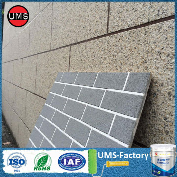 Grey stone effect spray paint exterior