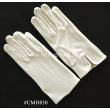 White Nylon Formal Mens Gloves
