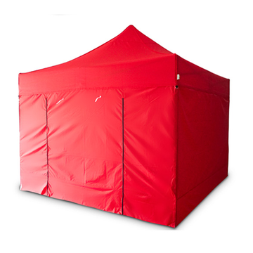 Green folding tent Custom fabric and side wall