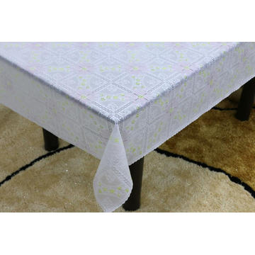 Printed pvc lace tablecloth by roll lincraft