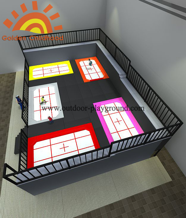 Multi Zone Olympic Profession Trampoline