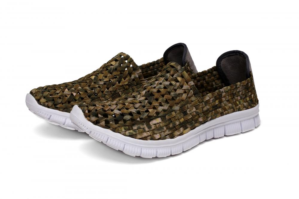 Camouflaged Woven Hollow Shoes