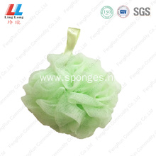 mesh pouf cleansing scrubber bath sponge shower ball
