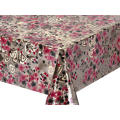 Double Face Emboss printed Gold Silver Tablecloth Luxury