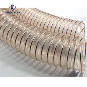 PU steel wire 8 inch flexible duct hose