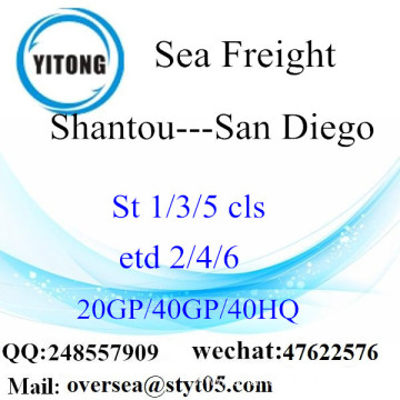 Shantou Port Sea Freight Shipping To San Diego