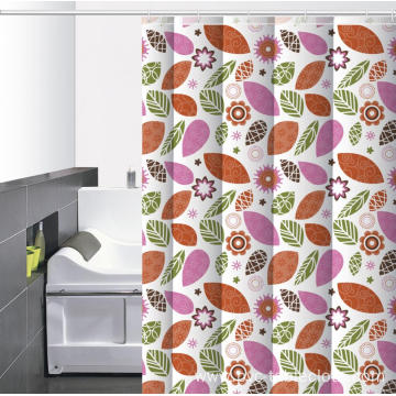 V Shaped Waterproof Bathroom printed Shower Curtain