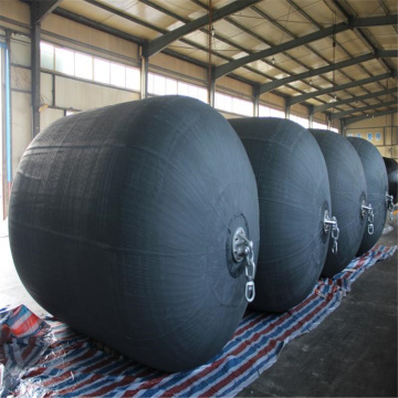 Pneumatic Rubber Fender with Tyre Chain for ship to ship 3.3 x 6.5 80 kpa