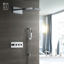 HIDEEP Three Function Thermostatic Brass Shower Faucet Set