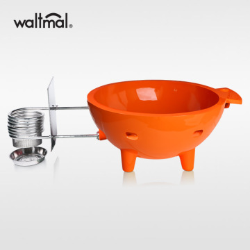 Waltmal Outdoor Hot Tub in Orange Red