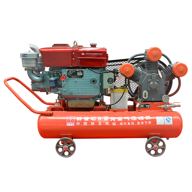 Diesel mining piston air compressor with Changcai ZS115M