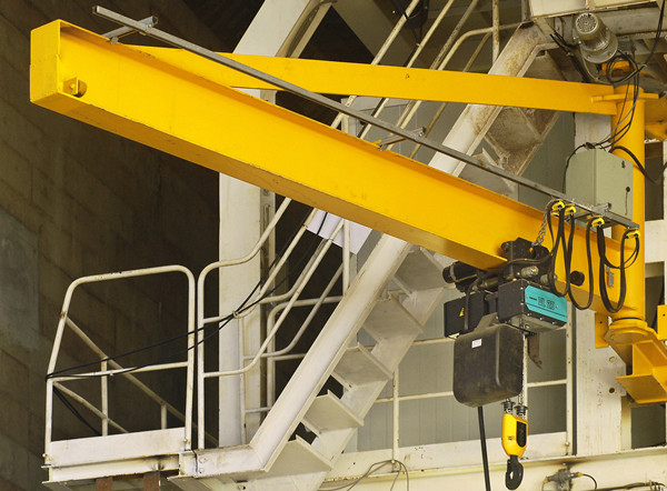 2t Jib Crane in yellow-painted