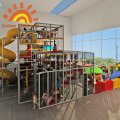 Large Indoor Playground Equipment Structures Theme Slide