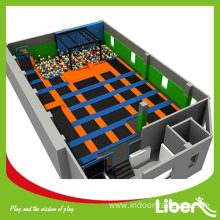 Hot selling attractive for Indoor Trampoline Park Builder indoor big fun air trampoline park supply to Gabon Manufacturer