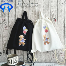 Custom drawstring bag pocket outdoor travel backpack