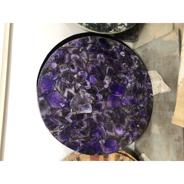 Amethyst side table top
