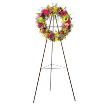 Best-Selling for Wire Easel Display Stand Wire Wreath Easel Heavy Duty Tubular Easel supply to United States Minor Outlying Islands Supplier