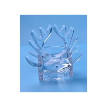 Glass Deer Horn Tealight Holder