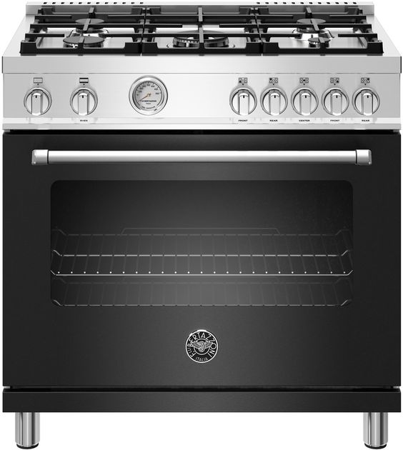 36 inch gas range with 5 burners