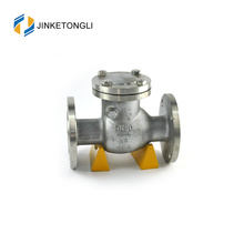 JKTLPC046 rubber wafer carbon steel flow control horizontal check valve