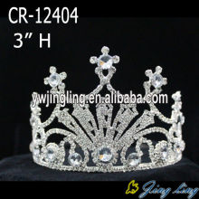 3 Inch Silver Plated King Crowns For Boy