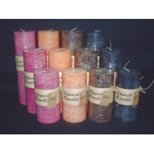 Non Drip Paraffin Wax Fully Colored Rustic Candle