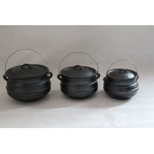 cast iron plat bottom potjie pot