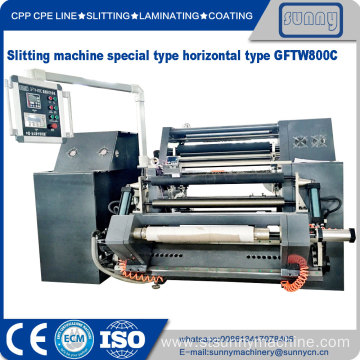 China for Best Automatic Horizontal Slitting Machine,Horizontal Slitting Rewinder Machine for Sale BOPP PE Film Roll Slitting Machine supply to Spain Manufacturer