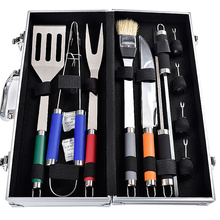 Colorful handle stainless steel outdoor bbq tools set