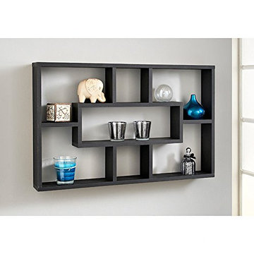 Stylish And Attractive Space Saving Multi-Compartment Wall Shelf