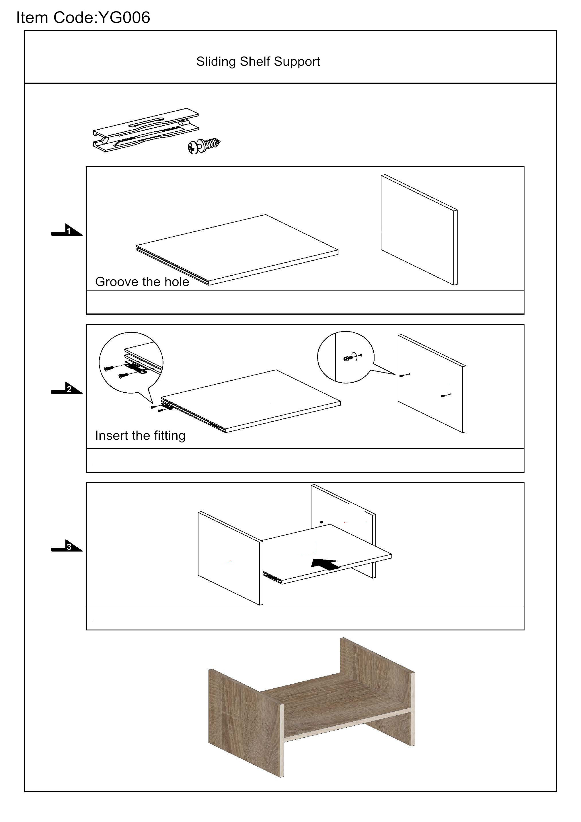Hiding shelf support