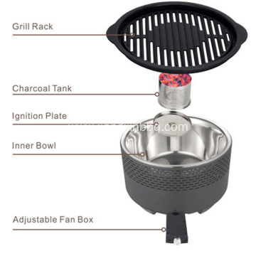 Smokeless Tabletop Portable Charcoal Grill