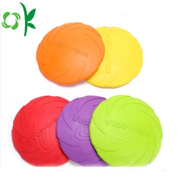 Unique Spiral Flying Disc Pet Toy Silicone Frisbee