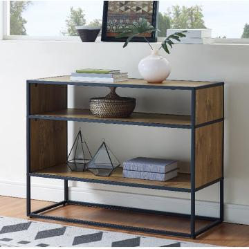 Horizontal Wood Bookcase metal frame design