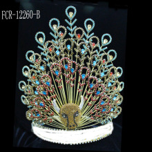 China for China Angel Wing Shape Beauty Pageant Crowns and Tiaras, Glitz King Crowns. Fashion Haire Jewelry Pageant Crowns For Women supply to Angola Factory