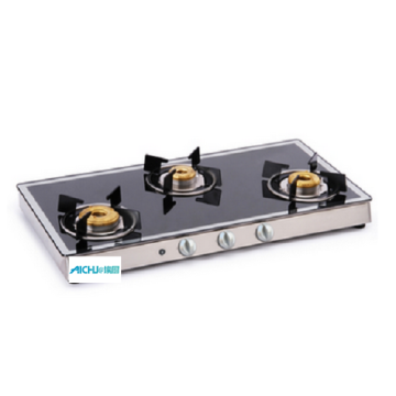 3 Burner Gas Stove Mirror Auto Ignition